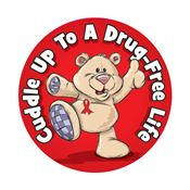 Cuddle Up To A Drug-Free Life Stickers