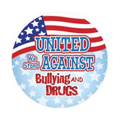 United We Stand Against Bullying And Drugs Sticker
