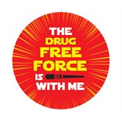 The Drug Free Force Is With Me Stickers