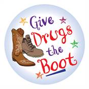 Give Drugs The Boot Theme Day Sticker