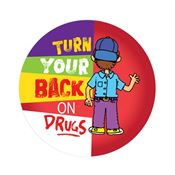 Turn Your Back On Drugs Theme Day Sticker
