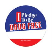 I Pledge To Be Drug Free Theme Day Sticker