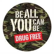 Be All You Can Be Drug Free Theme Day Sticker