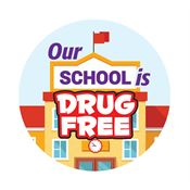 Our School Is Drug Free Theme Day Sticker