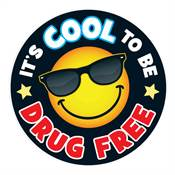 It's Cool To Be Drug Free Theme Day Stickers