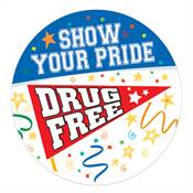 Show Your Pride Drug Free Theme Day Stickers