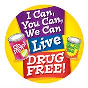 I Can, You Can, We Can Live Drug Free! Theme Day Stickers