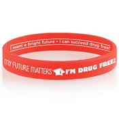 My Future Matters, I'm Drug Free! 2-Sided Silicone Bracelet