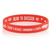Today A Reader, Tomorrow A Leader 2-Sided Silicone Bracelet