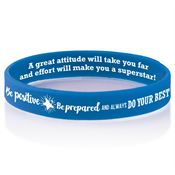 Be Positive, Be Prepared, And Always Do Your Best 2-Sided Silicone Bracelet