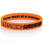 Test-Taking Superhero 2-Sided Silicone Bracelet