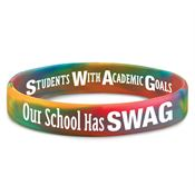 Our School Has SWAG 2-Sided Silicone Bracelet