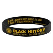 Black History: Honoring The Past, Inspiring The Future 2-Sided Silicone Bracelet