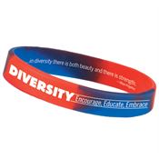 Celebrate Diversity: Encourage, Educate, Enhance 2-Sided Silicone Bracelet