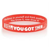 Don't Stress, You Got This! 2-Sided Silicone Bracelet