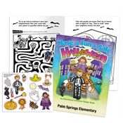 Have A Fun & Safe Halloween Educational Activities Sticker Book - Personalization Available