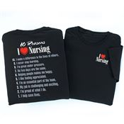 I (Heart) Nursing 2-Sided T-Shirt