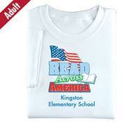 Read Across America (White) Adult T-Shirt - Personalization Available