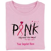 PINK Spread The Hope! Find The Cure Women's Cotton Cut T-Shirt - Personalization Available