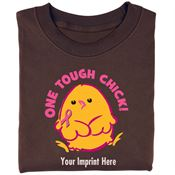 One Tough Chick Women's Cut Cotton T-Shirt - Personalization Available