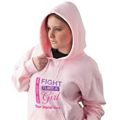 Defy-Fight-Win Fight Like A Girl Breast Cancer Awareness Hooded Sweatshirt - Personalization Available