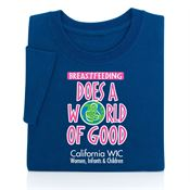 Breastfeeding Does A World Of Good Awareness Adult T-Shirt - Personalization Available