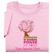 Pink Strength In Numbers Power In Pink Women's Cut T-Shirt - Personalization Available