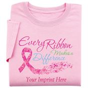Every Ribbon Makes A Difference Women's Cut Awareness T-Shirt - Personalization Available