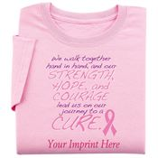 We Walk Together Hand In Hand Women's Cut Awareness T-Shirt - Personalization Available