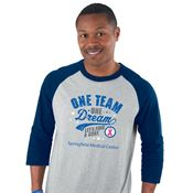 One Team, One Dream Full-Color Baseball Jersey - Personalization Available