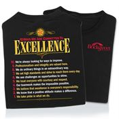 10 Ways We Are Committed To Excellence 2-Sided T-Shirt - Personalization Available