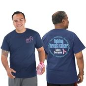 Husband, Brother, Father, Son Fighting Breast Cancer Takes Everyone Short-Sleeve Awareness T-Shirt