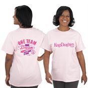 One Team One Dream Let's Find A Cure Awareness T-Shirt With Personalization
