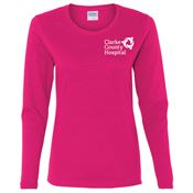 Gildan® Long Sleeve Women's Heavy Cotton T-Shirt - Personalization Available