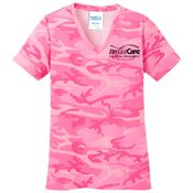 Port & Company® Women's Core Cotton Camo T-Shirt - Personalization Available