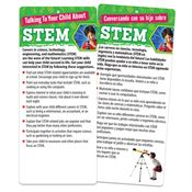 Talking To Your Child About STEM Two-Sided English/Spanish Glancer With Magnet