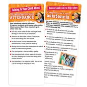 Talking To Your Child About Good Attendance Two-Sided English/Spanish Glancer With Magnet