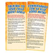 Talking To Your Child About Goals Two-Sided English/Spanish Glancer With Magnet
