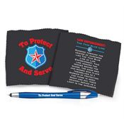 To Protect And Serve Microfiber Cloth & Stylus Pen Gift Set
