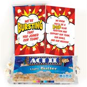 We're Bursting That You Joined Our Team! Popcorn Snack Pack