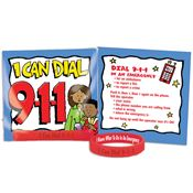 I Can Dial 9-1-1 Silicone Wristband & Card