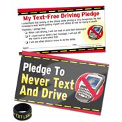 Pledge To Never Text And Drive Card & TXT L8R Thumb Ring