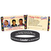 Be The Kind Of Leader You Would Follow! 2-Sided Silicone Bracelet & Card