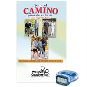 Multi-Function Pedometer With Walk Your Way To Fitness Walker's Guide (Spanish) - Personalization Available