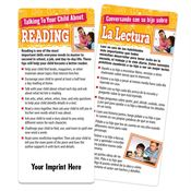 Talking To Your Child About Reading Two-Sided Bilingual Glancer With Magnet - Personalization Available