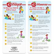 10 Ways To Help Your Child Do Well In School Bilingual Glancer With Magnet - Personalization Available