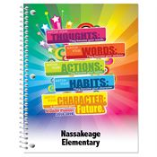 Thoughts, Words, Actions, Habits, Character, Future Elementary School Student Planner