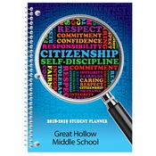 Citizenship Self Discipline Middle School Student Planner