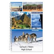 Achievement, Strength, Discovery, Commitment, Teamwork High School Student Planner