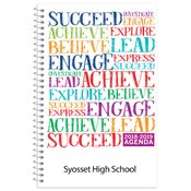 Succeed Word Cloud High School Student Planner